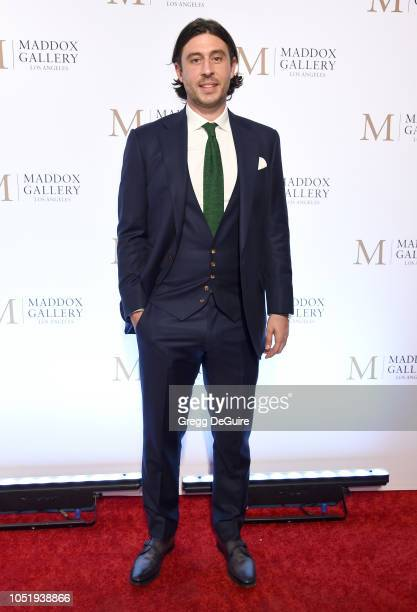 Sam Palmer attends the VIP Opening of Maddox Gallery Exhibition Best Of British at Maddox Gallery on October 11 2018 in Los Angeles California