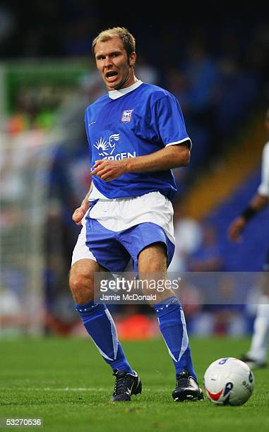 Sam Parkin of Ipswich Town in action during the preseason match between Ipswich Town v Glasgow Rangers at Portman Road on July 19 2005 in Ipswich...