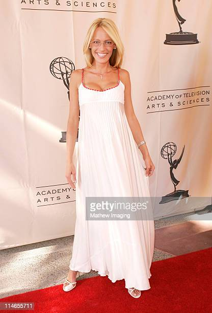 Sam Phillips during 57th Annual Los Angeles Area Emmy Awards Arrivals Reception at Leonard H Goldenson Theatre in North Hollywood California United...