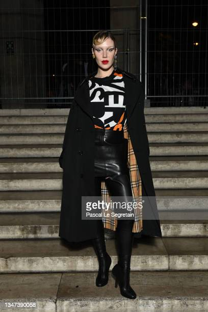 Sam Quealy attends Burberry closing party for Anne Imhof's Exhibition 'Natures Mortes'at Palais de Tokyo on October 18, 2021 in Paris, France.