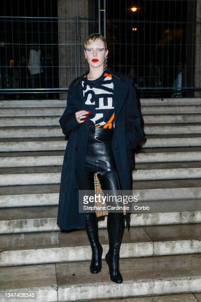 Sam Quealy attends the Burberry Closing Party For Anne Imhof's Exhibition 'Natures Mortes' at Palais De Tokyo on October 18, 2021 in Paris, France.