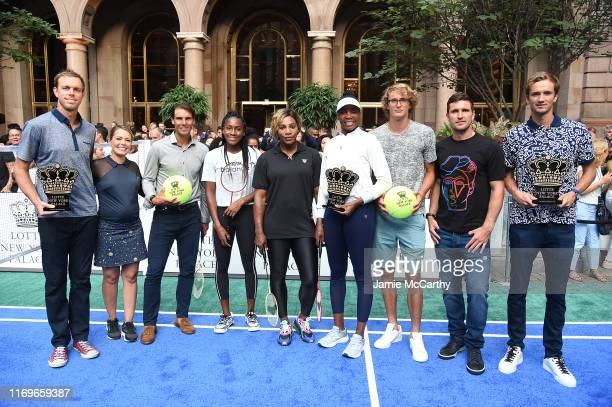 Sam Querrey Dylan Dreyer Rafael Nadal Cori Coco Gauff Serena Williams Venus Williams Alexander Zverev Mischa Zverev and Daniil Medvedev attend the...
