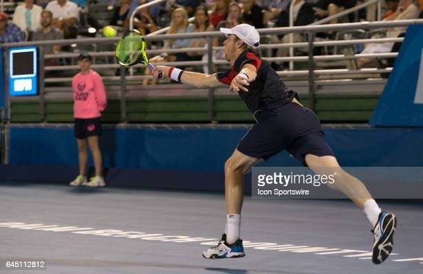 Sam Querrey is defeated by Juan Martin del Potro during the Quarterfinals of the ATP Delray Beach Open on February 24, 2017 at the Delray Beach...
