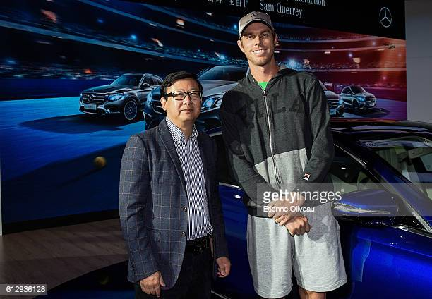Sam Querrey of the United States poses for a photograph at the Mercedes booth on day six of the 2016 China Open at the China National Tennis Centre...