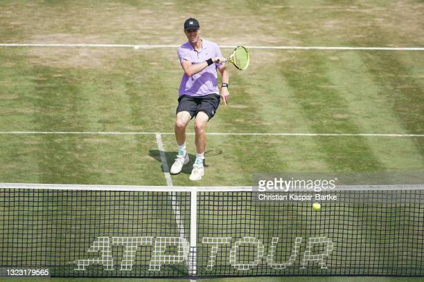 Sam Querrey of United States of America in action during his half-final match against Felix Auger-Aliassime of Canada during day 6 of the MercedesCup...