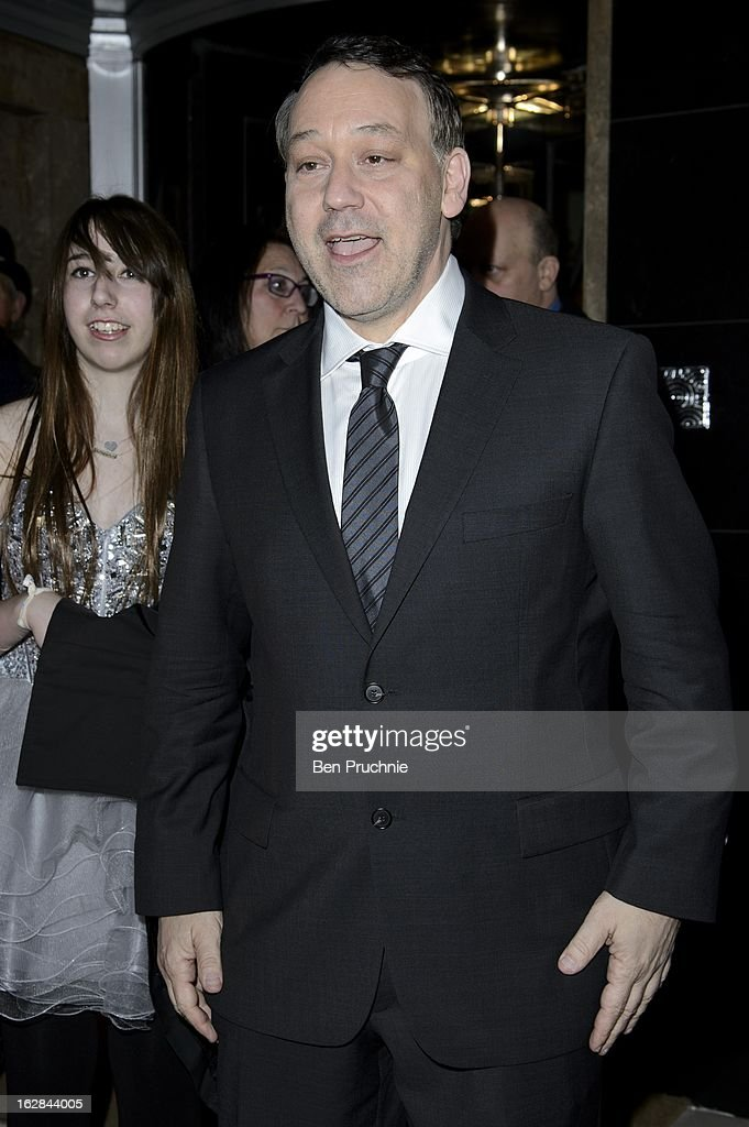 Sam Raimi sighted departing his hotel in London on February 28, 2013 in London, England.