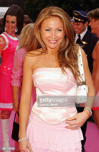 Sam Ramplin arrives on the pink carpet for the second annual ASDA's Tickled Pink charity concert raising funds for Breast Cancer Care at the Royal...