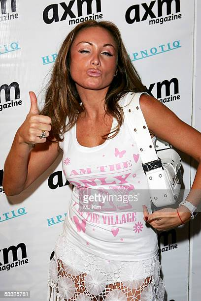 Sam Ramplin attends monthly glossy Axm Magazine's annual summer party at the Getty Images Gallery on August 4 2005 in London England