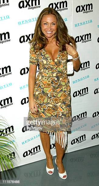 Sam Ramplin during axm Magazine Summer Party at Getty Images Gallery in London Great Britain