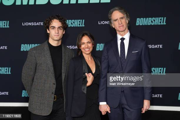 Sam Rayfield Roach Susanna Hoffs and Jay Roach attend a Special Screening of Liongate's Bombshell at Regency Village Theatre on December 10 2019 in...