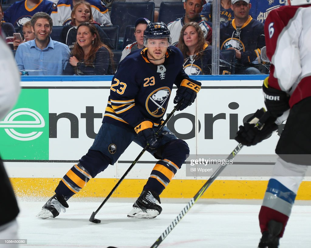 Sam Reinhart of the Buffalo Sabres skates against the Colorado