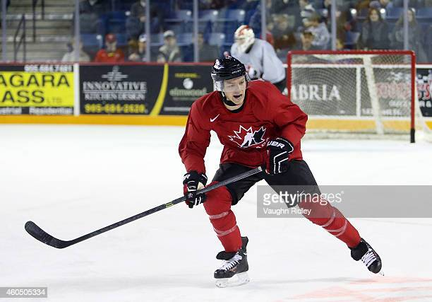 Sam Reinhart skates during the Canada National Junior Team practice at the Meridian Centre on December 15 2014 in St Catharines Ontario Canada