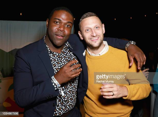 Sam Richardson and Tim Robinson attend Comedy Central's Emmys Party at The Highlight Room at the Dream Hotel on September 16 2018 in Hollywood...