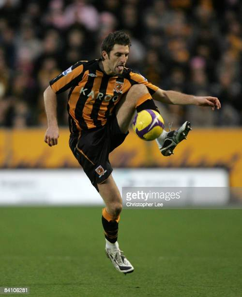 Sam Ricketts of Hull City in action during the Barclays Premier League match between Hull City and Sunderland at The KC Stadium on December 20 2008...