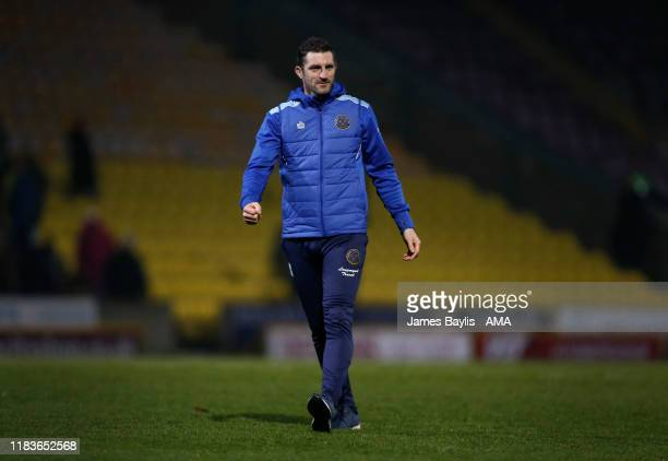 Sam Ricketts the head coach / manager of Shrewsbury Town after the FA Cup First Round Replay match between Bradford City and Shrewsbury Town at Coral...
