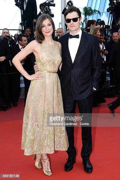 Sam Riley and Alexandra Maria Lara attend the 'Elle' Premiere during the 69th annual Cannes Film Festival at the Palais des Festivals on May 21 2016...