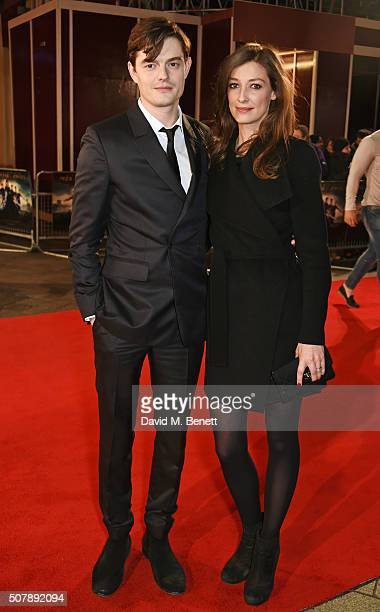 """Sam Riley and Alexandra Maria Lara attend the European Premiere of """"Pride And Prejudice And Zombies"""" at the Vue West End on February 1, 2016 in..."""