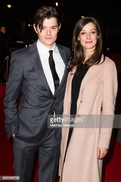 Sam Riley and Alexandra Maria Lara attend the 'SSGB' premiere during the 67th Berlinale International Film Festival Berlin at Haus der Berliner...
