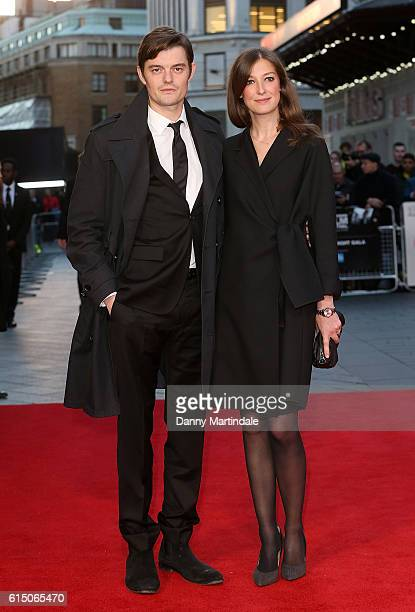 Sam Riley and Alexandra Maria Lara attends the 'Free Fire' Closing Night Gala during the 60th BFI London Film Festival at Odeon Leicester Square on...