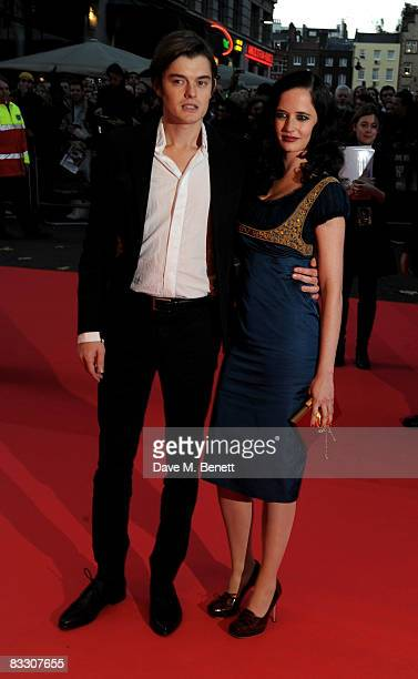 Sam Riley and Eva Green arrive at the world premiere of 'Franklyn' during the BFI 52nd London Film Festival at Odeon West End on October 16 2008 in...