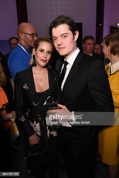 Sam Riley and guest attend the Medienboard Berlin-Brandenburg Reception during the 67th Berlinale International Film Festival Berlin at on February...