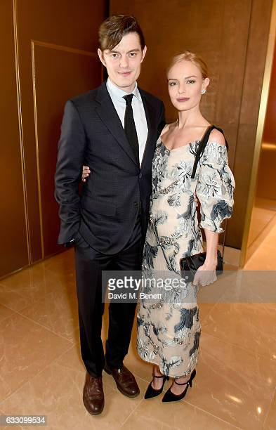 Sam Riley and Kate Bosworth attend the world premiere of BBC One's SSGB at the May Fair Hotel on January 30 2017 in London England
