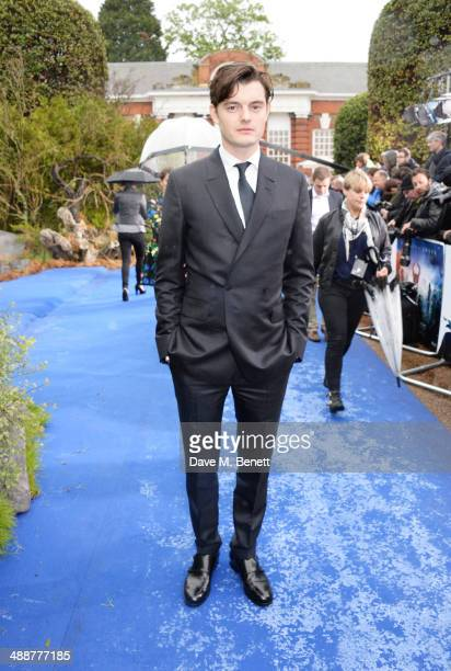 """Sam Riley arrives at a private reception as costumes and props from Disney's """"Maleficent"""" are exhibited in support of Great Ormond Street Hospital at..."""