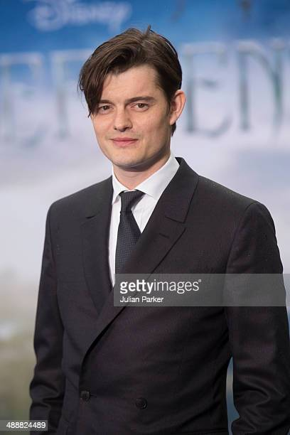 Sam Riley attends a private reception as costumes and props from Disney's 'Maleficent' are exhibited in support of Great Ormond Street Hospital at...