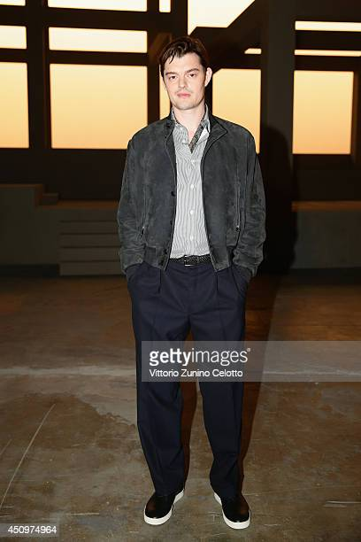 Sam Riley attends Ermenegildo Zegna show during Milan Menswear Fashion Week Spring Summer 2015 on June 21 2014 in Milan Italy