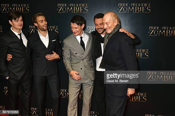 Sam Riley Douglas Booth Matt Smith Jack Huston and Charles Dance attend the European Premiere of 'Pride And Prejudice And Zombies' at the Vue West...