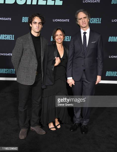 Sam Roach Susanna Hoffs and Jay Roach arrives at the Special Screening Of Liongate's Bombshell at Regency Village Theatre on December 10 2019 in...