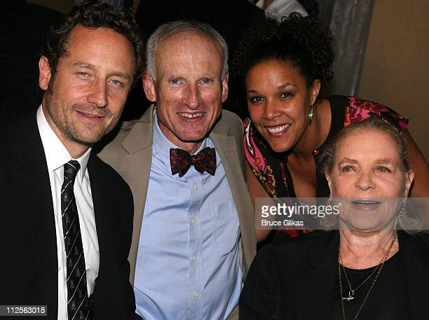 Sam Robards James Rebhorn Linda Powell and Lauren Bacall pose at The Opening Night Party for The Roundabout Theater Company's The Overwhelming at The...