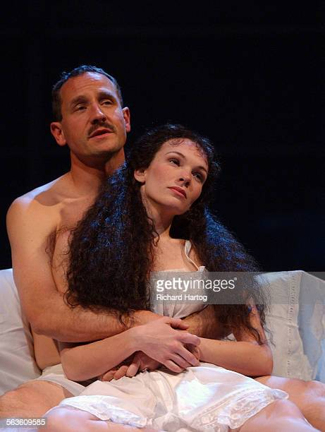 Sam Robards left Abby Brammell in a scene from 'The Talking Cure' at the Mark Taper Forum Saturday evening in Los Angeles Calif April 3 2004 ––...