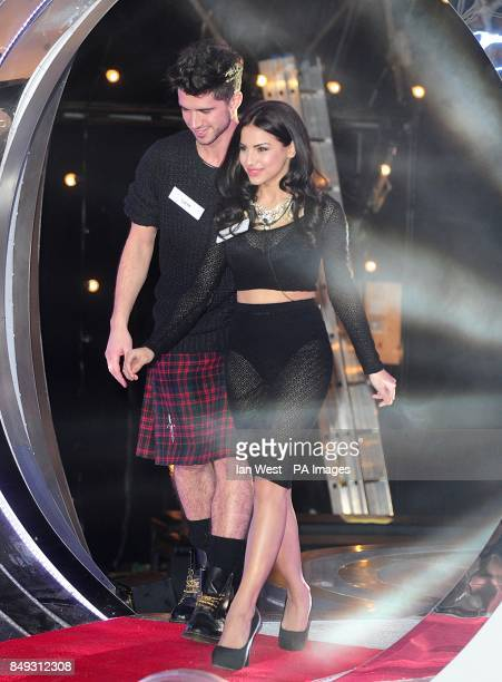 Sam Robertson and Lacey Banghard arriving at the launch of Celebrity Big Brother 2013 Elstree Studios Borehamwood