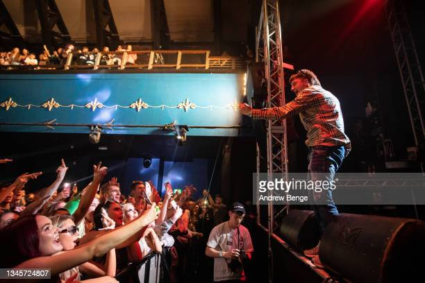 Sam Robinson of Bad Boy Chiller Crew performs at O2 Academy Leeds on October 09, 2021 in Leeds, England.