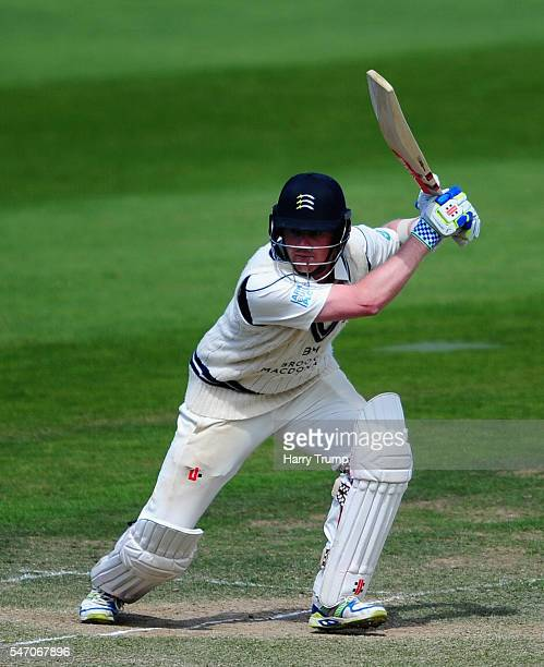 Sam Robson of Middlesex bats during Day Four of the Specsavers County Championship Division One match between Somerset and Middlesex at The Cooper...