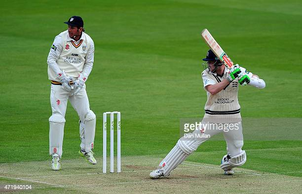 Sam Robson of Middlesex bats during day one of the LV County Championship match between Middlesex and Durham at Lord's Cricket Ground on May 2 2015...