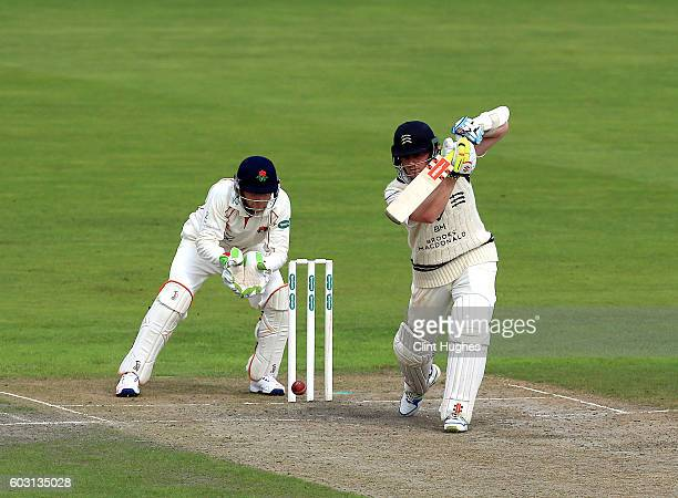 Sam Robson of Middlesex bats during day one of the Specsavers County Championship Division One match between Lancashire and Middlesex at Old Trafford...