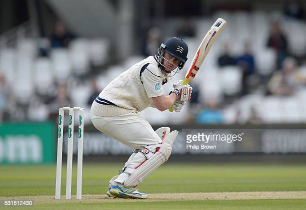Sam Robson of Middlesex looks on as he is dropped during day one of the Specsavers County Championship Division One match between Surrey and...