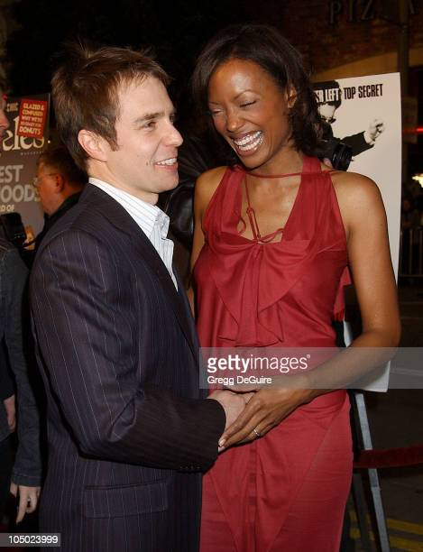 Sam Rockwell Aisha Tyler during Los Angeles Premiere Of 'Confessions Of A Dangerous Mind' at Mann Bruin Theatre in Westwood California United States