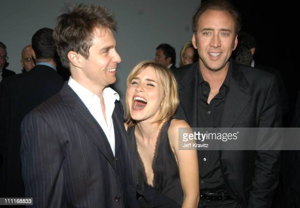 Sam Rockwell Alison Lohman and Nicolas Cage during 2003 Toronto Film Festival 'Matchstick Men' Party at Royal Ontario Museum in Toronto Ontario Canada