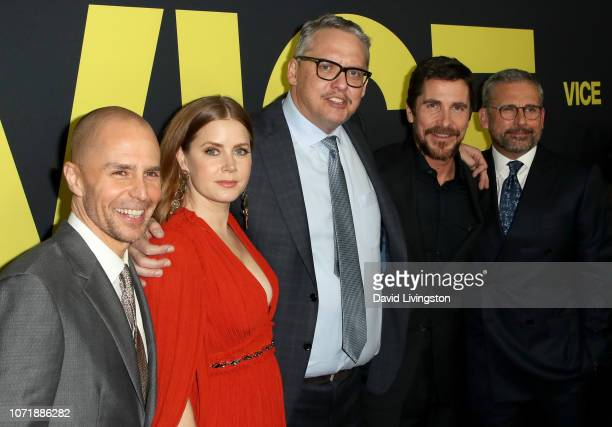 Sam Rockwell Amy Adams Adam McKay Christian Bale and Steve Carell attend Annapurna Pictures Gary Sanchez Productions and Plan B Entertainment's World...