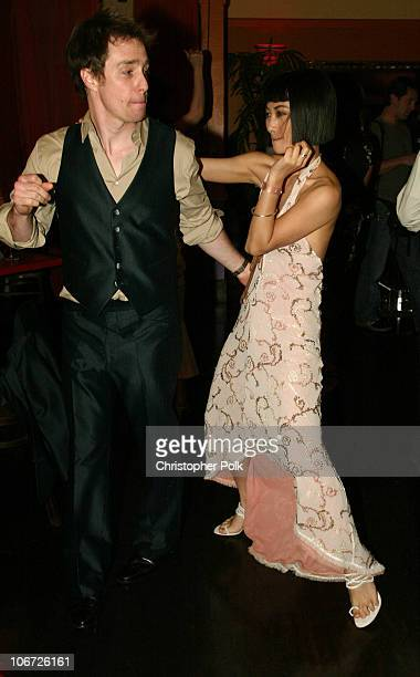 Sam Rockwell and Bai Ling during Playstation 2 Hosts the Movieline Young Hollywood Awards After-Party in Los Angeles, California, United States.