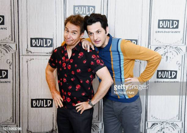 Sam Rockwell and Ben Schwartz visit Build Series to discuss 'Blue Iguana' at Build Studio on August 9 2018 in New York City