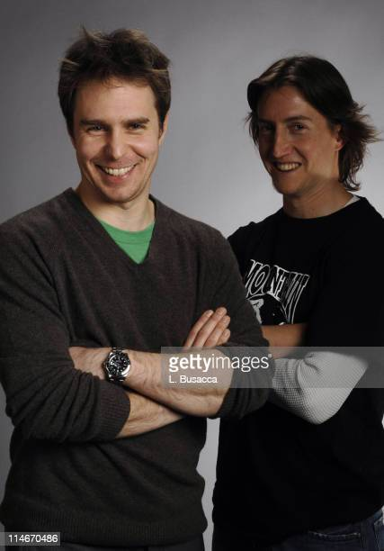 Sam Rockwell and David Gordon Green during 2007 Park City Hollywood Life House Portraits Day 3 at Hollywood Life House in Park City Utah United States
