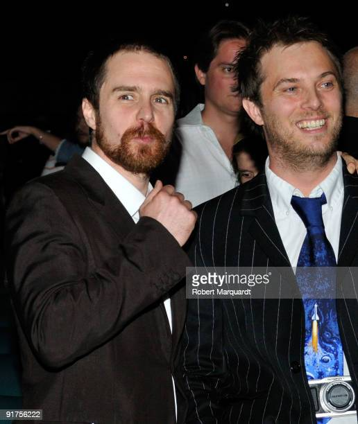 Sam Rockwell and Duncan Jones attend the premiere of 'The Road' at the 42nd Sitges Film Festivall on October 11, 2009 in Barcelona, Spain.