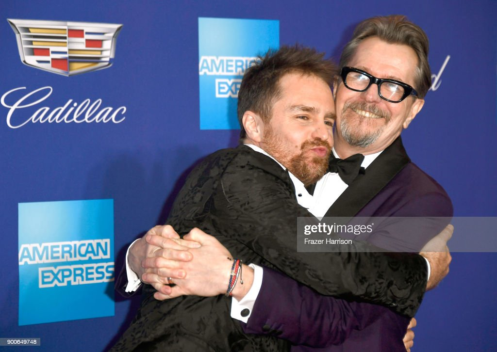 Sam Rockwell (L) and Gary Oldman attend the 29th Annual Palm Springs International Film Festival Awards Gala at Palm Springs Convention Center on January 2, 2018 in Palm Springs, California.