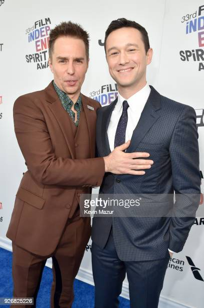 Sam Rockwell and Joseph GordonLevitt attend the 2018 Film Independent Spirit Awards on March 3 2018 in Santa Monica California