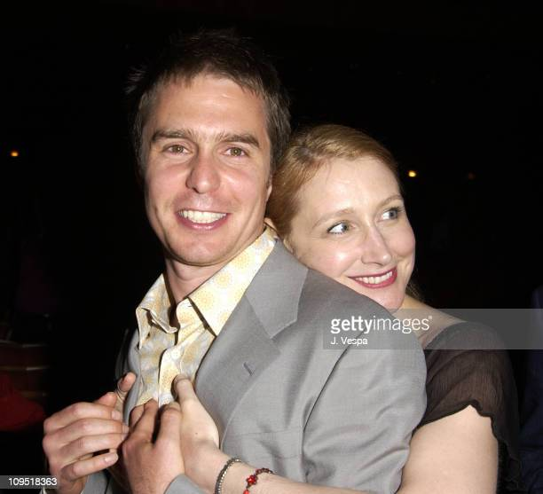 """Sam Rockwell and Patricia Clarkson during Cannes 2002 - Director's Fortnight Closing Night - """"Welcome to Collinwood"""" Premiere and Party at Noga..."""