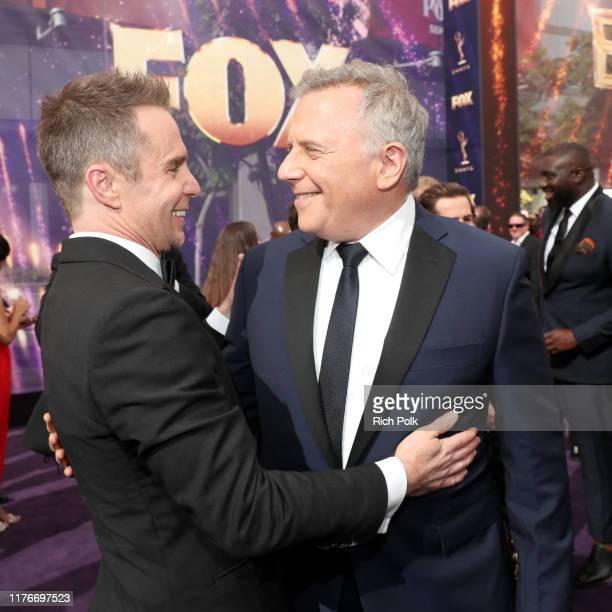 Sam Rockwell and Paul Reiser attend IMDb LIVE After the Emmys Presented by CBS All Access on September 22, 2019 in Los Angeles, California.